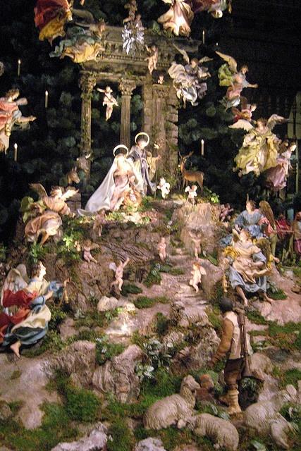 18th century Neapolitan Baroque Crèche on display at Metropolitan Museum of Art, New York City