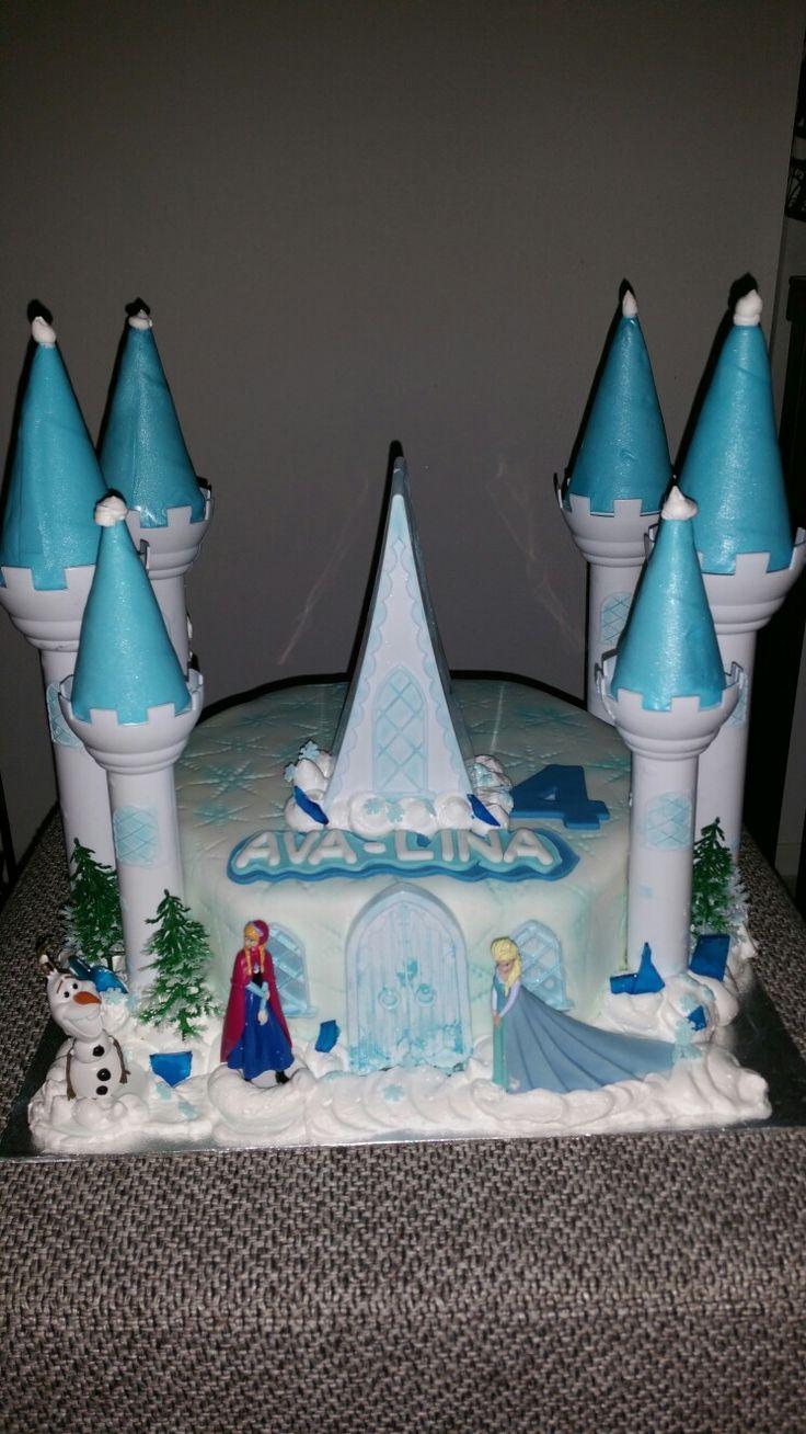 Frozen kasteel taart