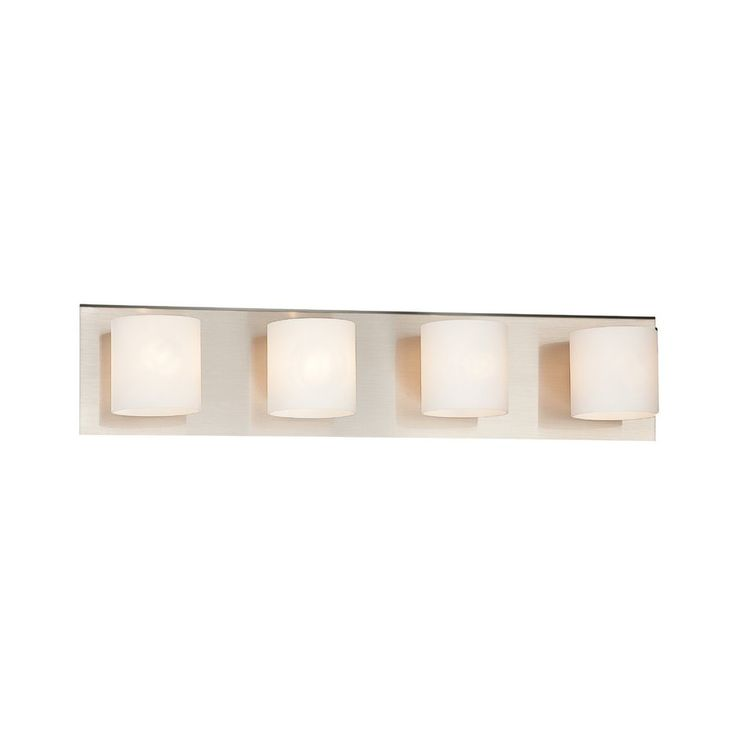 Shop Eurofase 4 Light Geos Satin Nickel Bathroom Vanity Light At Lowes.com