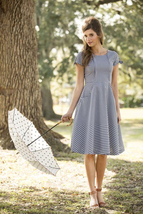 Shabby Apple - Cotillion Dress Black and White Gingham, $92.00 (http://www.shabbyapple.com/shop/cotillion-dress-black-and-white-gingham/)