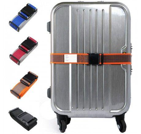Bagasjebånd/koffertstropp 2m med adresselapp, CJSJ