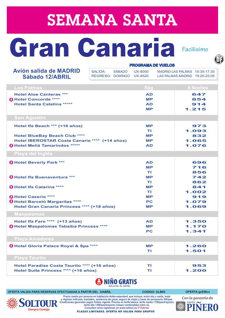 Gran Canaria, Semana Santa, salida 12 Abril desde Madrid ultimo minuto - http://zocotours.com/gran-canaria-semana-santa-salida-12-abril-desde-madrid-ultimo-minuto-2/