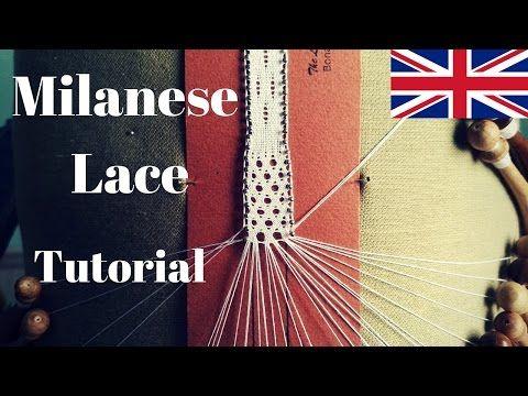 Bobbin Lace - Gridiron Stitch #MilaneseLace - YouTube