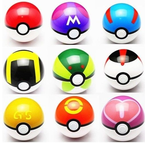 9 Pcs Pokemon Pokeball Toys ABS Figures Japanese Hot Anime 7 cm Best Collectible