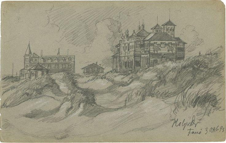 Holger Drachmanns skitse af Kurhotellet udført i oktober 1893