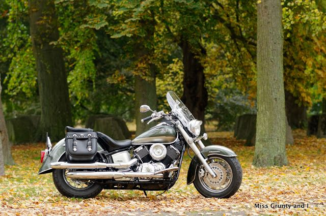 - - Miss Grunty and I - -: Beautiful Autumn Colours!  Yamaha XVS1100a Classic