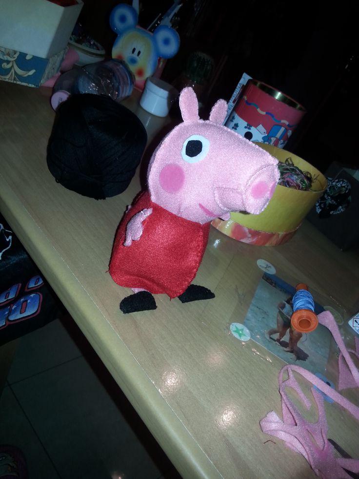 la fantastica #Peppa Pig in #pannolenci