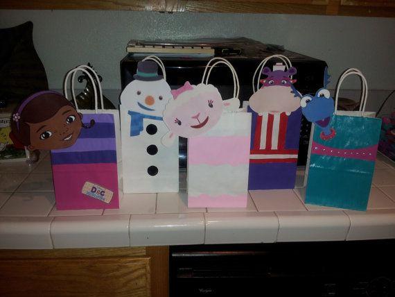 Doc Mcstuffin Party Favor Bags Mcstuffins Pinterest Birthday And