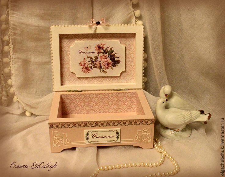"""Купить Шкатулка """" Розы для Снежаны """" - белый, розы, шкатулка с розами, шкатулочка для украшений"""