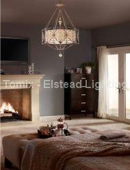 Lampa wisząca MARCELLA kol. BRĄZOWO-BEŻOWY (FE/MARCELLA/P) - Feiss- Elstead Lighting