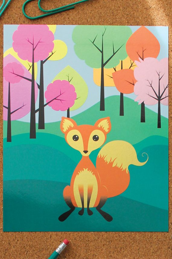 Precious 'Foxy Fellow' Art Print by StationeryBike on Etsy