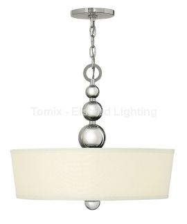 Lampa wisząca ZELDA kol. POLEROWANY NIKIEL (HK/ZELDA/P/B PN) - Hinkley - Elstead Lighting