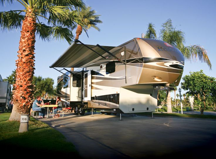 luxe 5th wheel rv pics | It's high end living at Outdoor Resort, Palm Springs, California