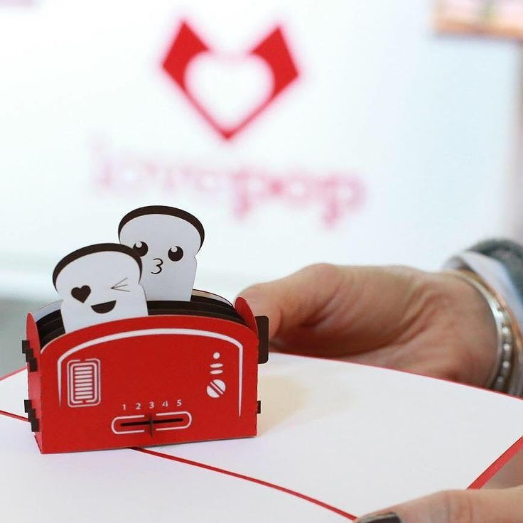 There's never a bad time to give someone a little extra love.  Model: Love Toaster 3D pop up card