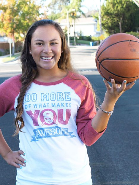 Do More Of What Makes You Awesome t-shirt | basketball | girl's sports  www.tomboyvintage.com