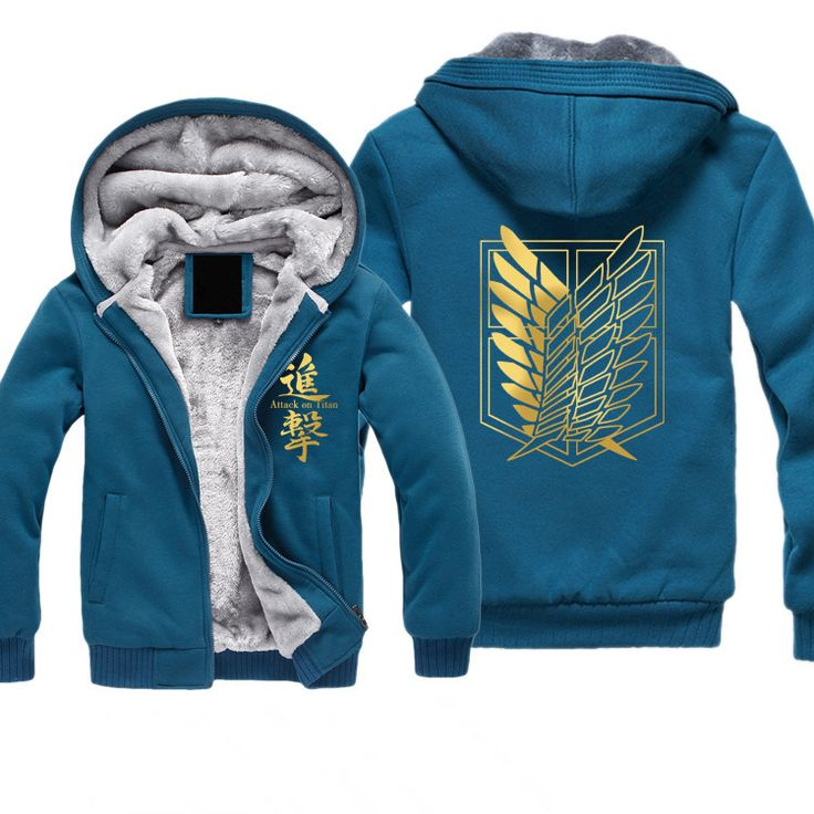 attack on titan hoodie blue attack on titan pinterest. Black Bedroom Furniture Sets. Home Design Ideas