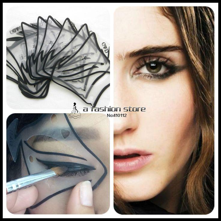 7 stijl in 1 set Quick Make Kat Eyeliner Smokey Eyeshadow Tekening Gids Herbruikbare Stencil voor Classic Eye Liner Template