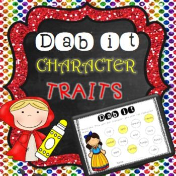 Character Traits Dab it Pack- Is perfect to use when undertaking a unit on character traits. Included in this pack is bright and colorful dab it activities and answer sheets for students to consolidate their understanding of character traits. These printable activities would be great to use in: reading and writing activities, literacy centers or morning work.The pack entails the following activities for the popular fairy tales: Jack and the Beanstalk Litte Red Riding Hood The Three Little…