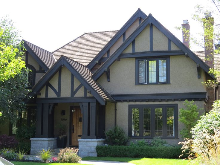 Tudor Rules - How to Paint Your Tudor Revival Home - Vancouver Painting Contractors: Warline. Trim darker than body. Body color, trim color, and door color: no more.