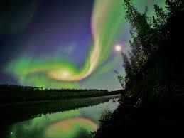 Este Es Un Paisaje Con Las Auroras Boreales