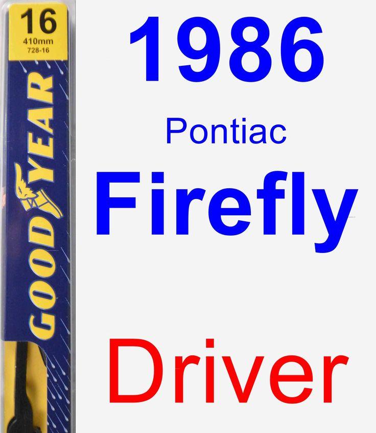 Driver Wiper Blade for 1986 Pontiac Firefly - Premium