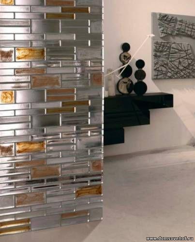Зонирование пространства в интерьере Стеклянные перегородки в квартире, отличное решение