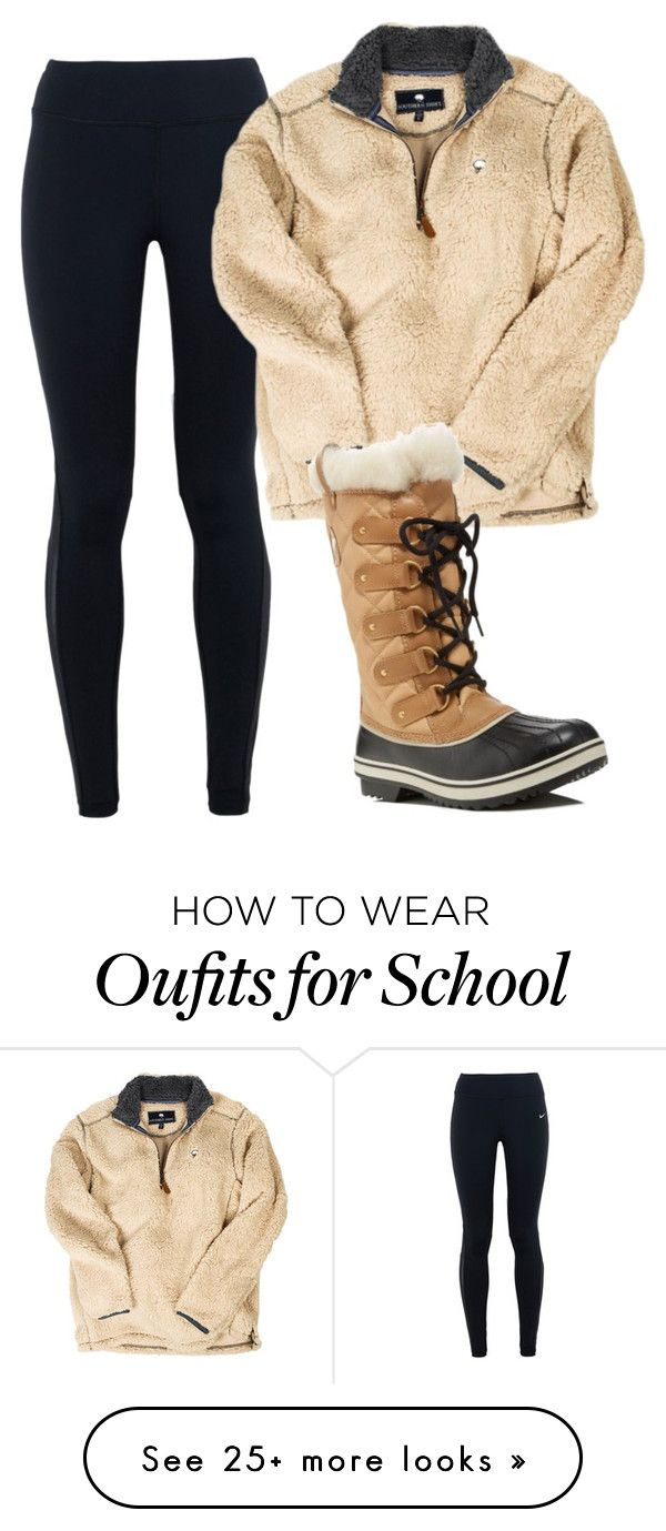 """""""Causal day at school"""" by gemini-lady on Polyvore featuring NIKE and SOREL"""