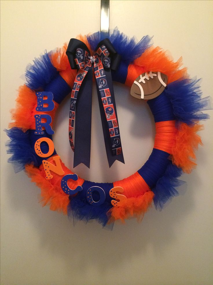Denver Broncos Wreath