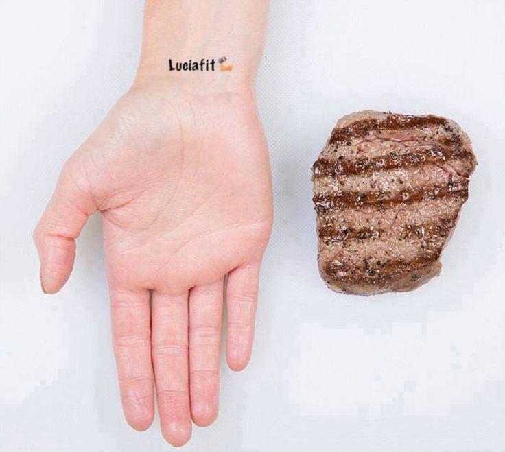 Guía práctica para medir tus porciones de comida con la mano. Así no te escudes con las cantidades y podrás controlar siempre tu peso ideal.