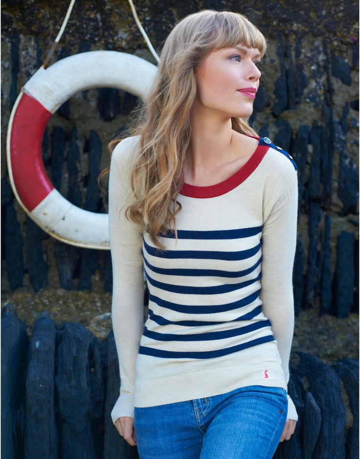 Say so long to a sea breeze in style with this wonderfully jumper. MERIEL Womens Breton Stripe Jumper #nautical #joules #christmas #wishlist