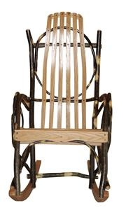 Hickory Big and Tall Rocking Chair   Amish Made Porch Rockers - I've had one of these for years and love it. It's held up fantastically. Wish I knew of a local supplier.