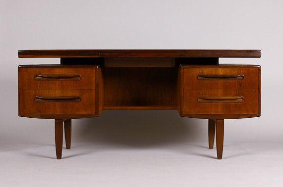 Danish Modern Mid Century Vintage G Plan Floating Top Teak Desk Vanity By Kofod Ln Ca