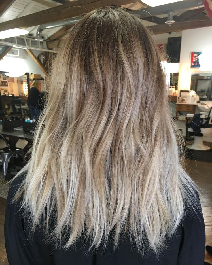 """125 Likes, 3 Comments - Leah Hoffman (@leahhofffhair) on Instagram: """"My best friend has the best hair. Ever. Maggie came in with 5 in of grown out balayage. But she…"""""""