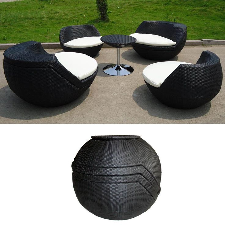 outdoor wicker patio furniture keys stackable set in black wicker