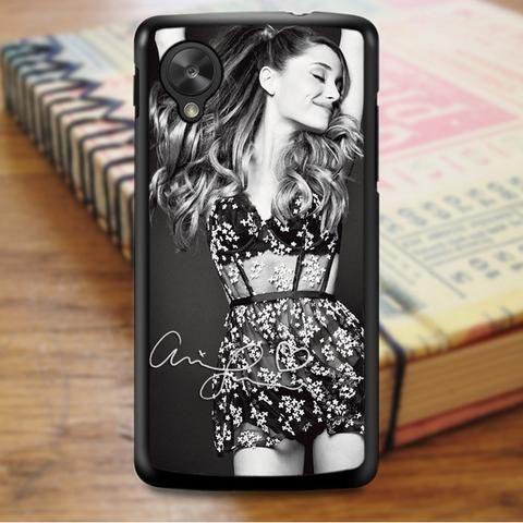 Ariana Grande Signature Black And White Nexus 5 Case