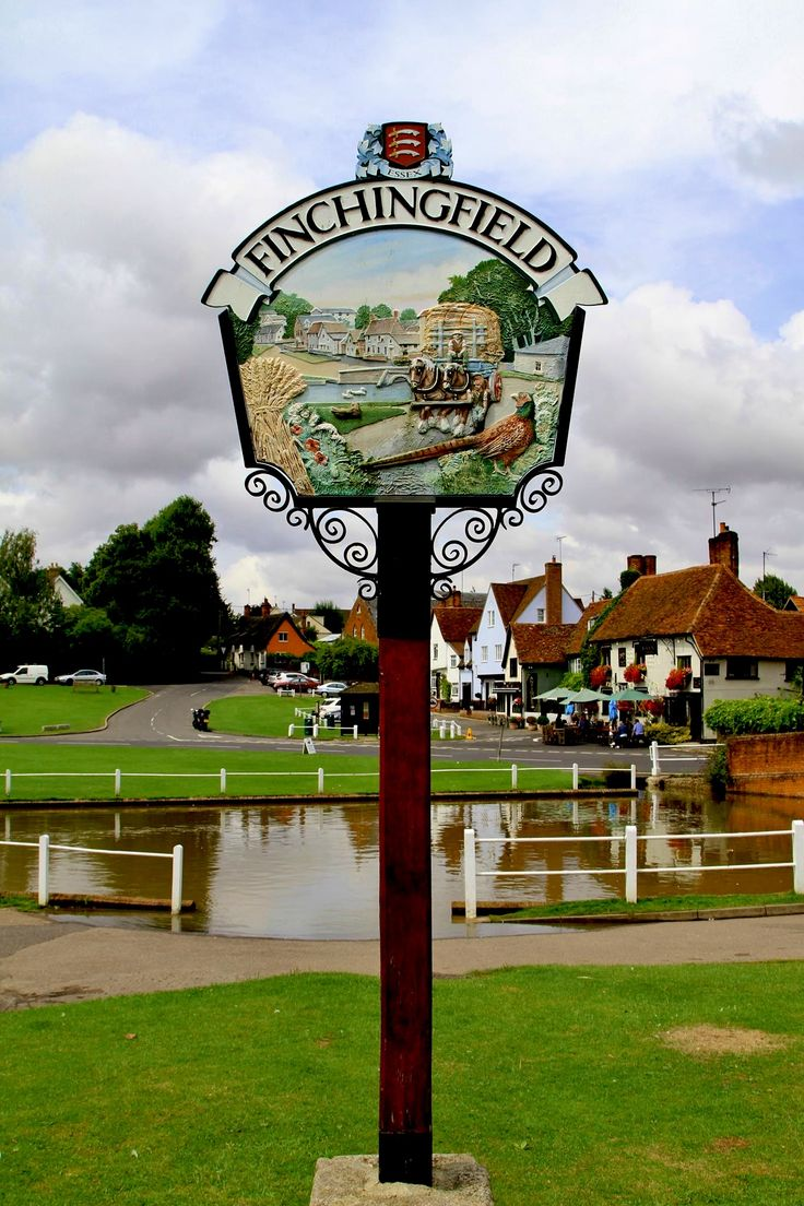 Village sign says it all