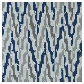 Kaleen Habitat Blue Square Indoor/Outdoor Handcrafted Southwestern Area Rug (Common: 6 X 6; Actual: 5.75-Ft W X 5.75-Ft