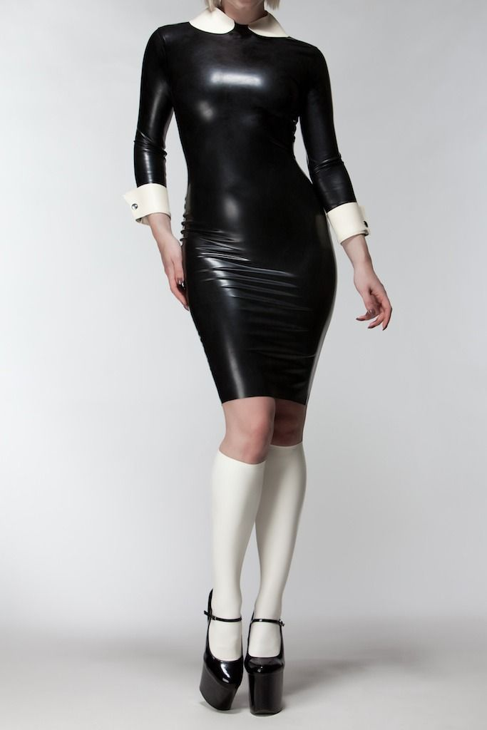 LATEX PETER PAN DRESS: Rubber, Fashion, Sexy, Dresses, Posts, Latex Fetish, Leather, Black
