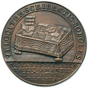 Artemide Aste - Asta XXVI: 1253 - Pio II (1458-1464) Medaglia di restituzione conio di Girolamo Paladino (D/) e Nicola Cerbara (R/) - metà XVIII-XIX sec. - Dea Moneta
