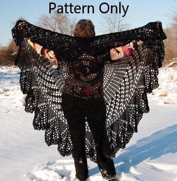 Crochet Pattern For Bohemian Shawl : Crochet Vest Pattern, Bohemian Vest, Stevie Nicks Style ...