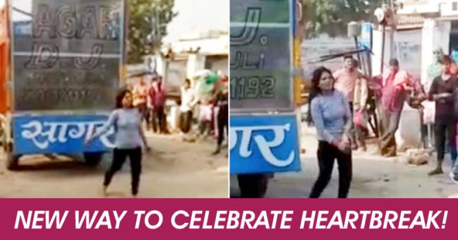 Girl Dances Outside her Lover's home on Raja Hindustani Song, When He Ditches Raja Hindustani Song, which is believed to be a sad song. Which is one of the most famous songs of a movie named