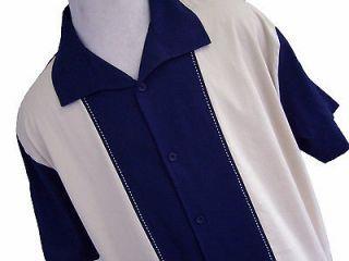 NWT Mens Retro Bowling Shirt Charlie Sheen Sopranos Vtg 50s Poker Club