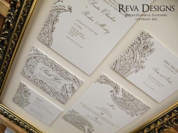 Paisley Print Wedding Invites