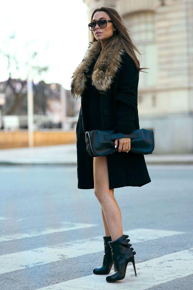 Veja como usar vestido no inverno e manter-se aquecida!