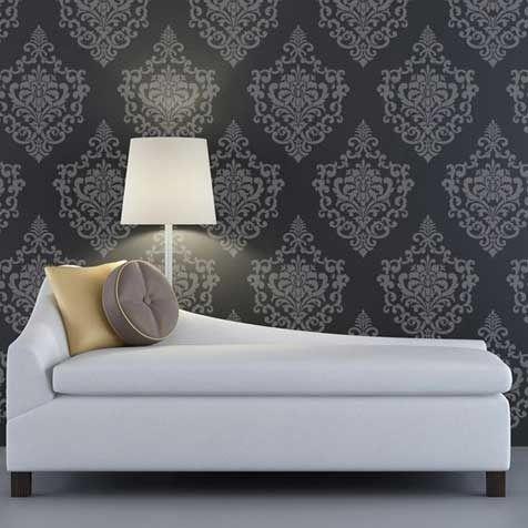 Wall Stencil | Ornamental Cartouche Stencil | Royal Design StudioDecor Ideas, Cartouche Stencils, Wall Decal, Damasks Wall, Stencils Pattern, Ornaments Cartouche, Wall Stencils, Design Studios, Accent Wall