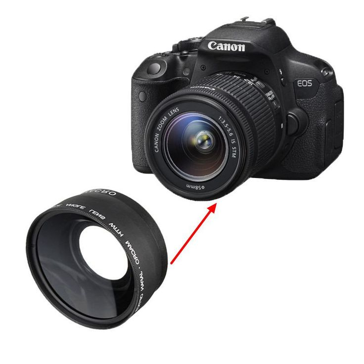 58MM 0.45x Wide Angle Macro Camera Lens for Canon EOS 350D 400D 450D 500D 1000D 550D 600D 1100D DSLR