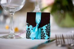 Online Shop Free Shipping 324pcs Turquoise Tapestry Favor Boxes TH013 Wedding decoration, party decoration@Shanghai Beter Gifts|Aliexpress Mobile