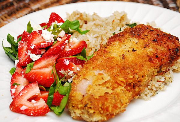 Mustard, Herb & Cheese Crusted Pork Loin chops.  Just made this for dinner and they were delicious!!!