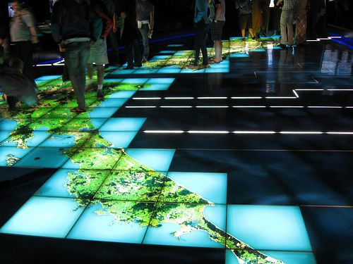 Superior Interactive Floor Projection Lets You Experience The Marvelous Way Of 3D.  This Kind Of Projection