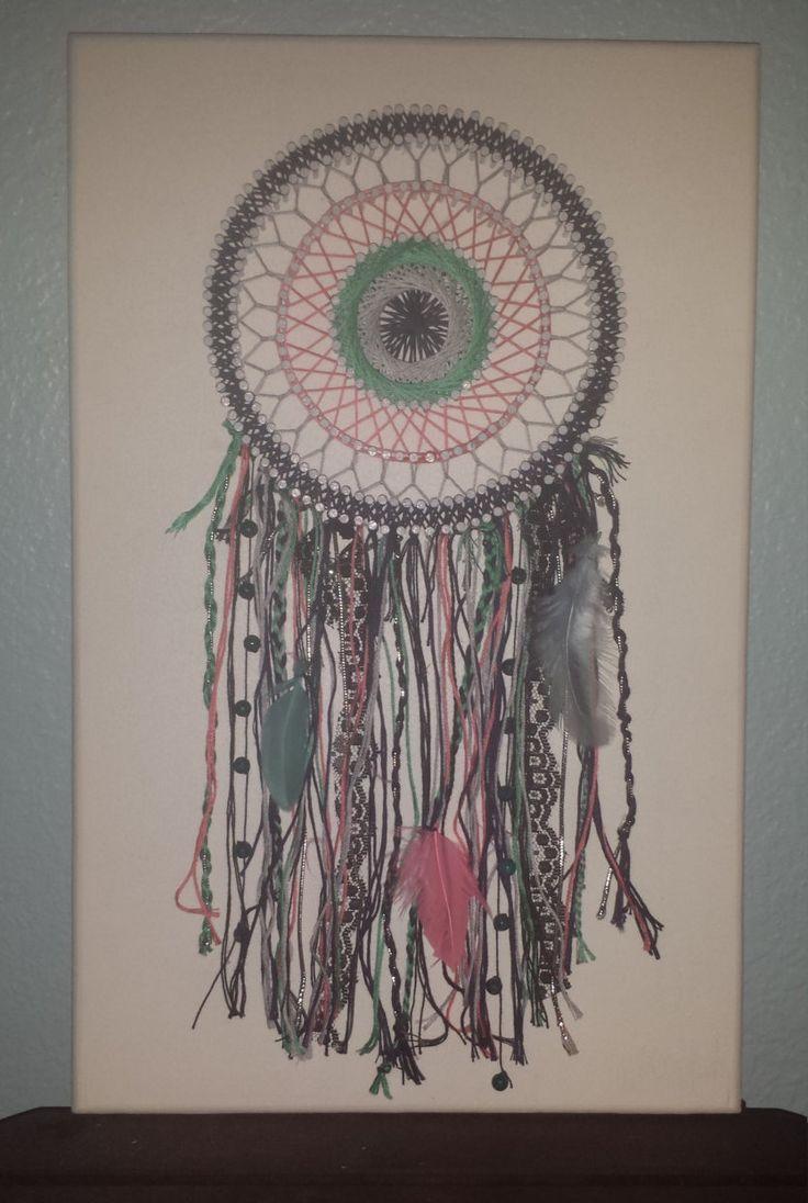 String art craft kit - String Art Bohemian Dreamcatcher